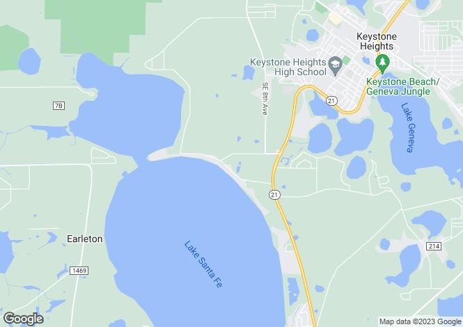 Map for USA - Florida, Putnam County, Melrose