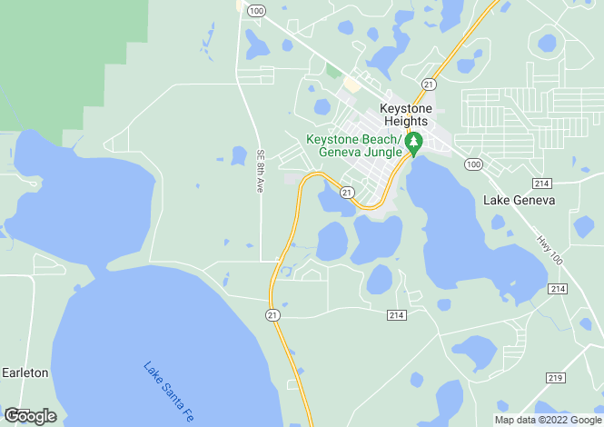 Map for USA - Florida, Clay County, Keystone Heights