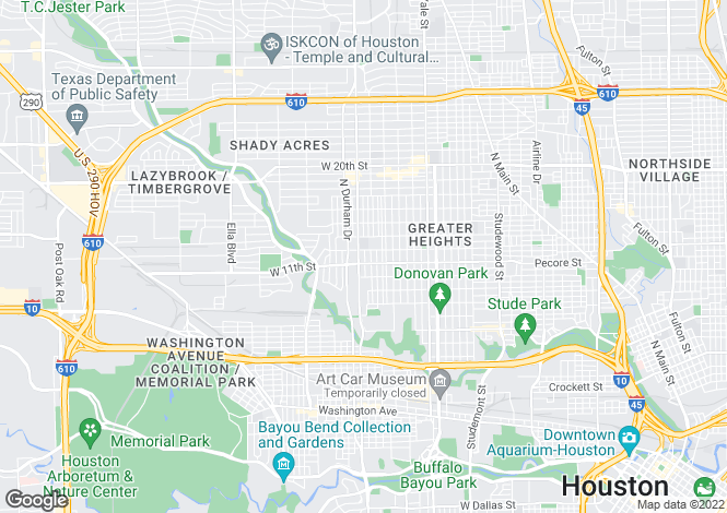 Map for USA - Texas, Harris County, Houston