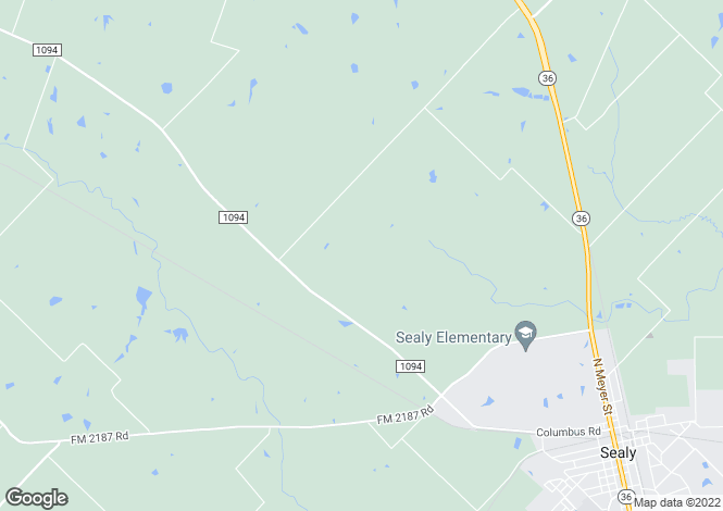 Map for Sealy, Austin County, Texas