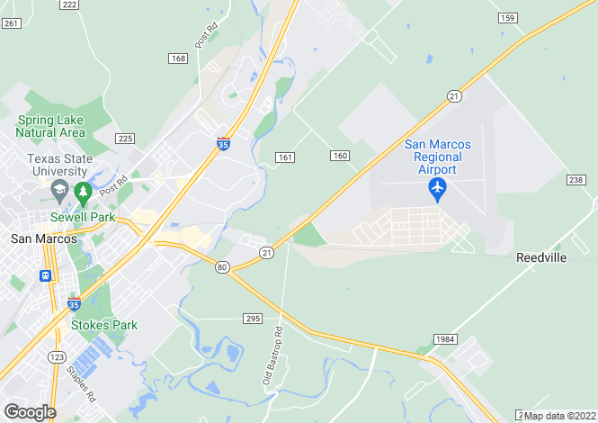 Map for USA - Texas, Hays County, San Marcos