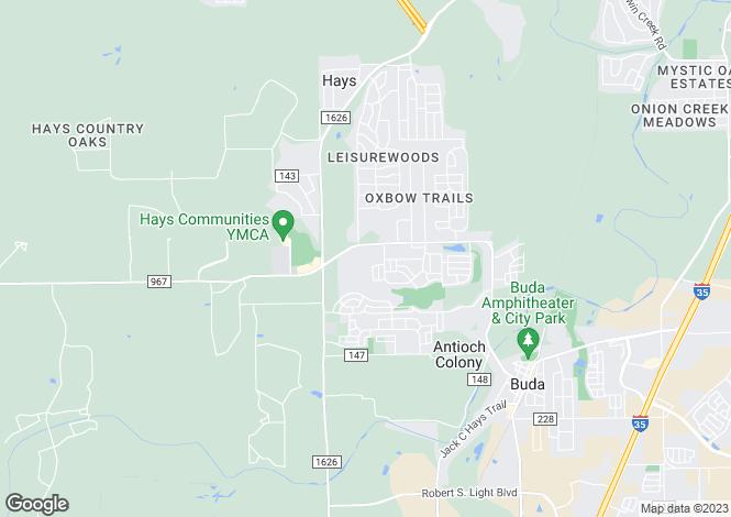 Map for USA - Texas, Hays County, Buda