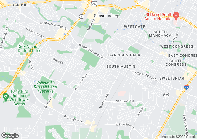 Map for USA - Texas, Travis County, Austin