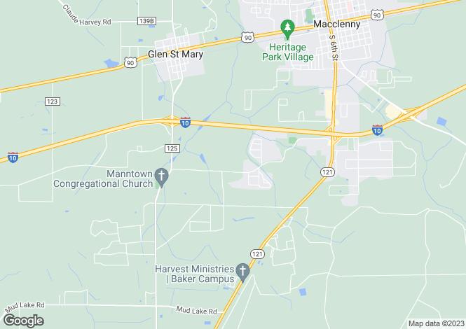 Map for USA - Florida, Baker County, Macclenny