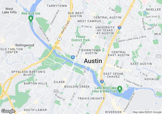 Map for USA - Texas, Travis County, Austin