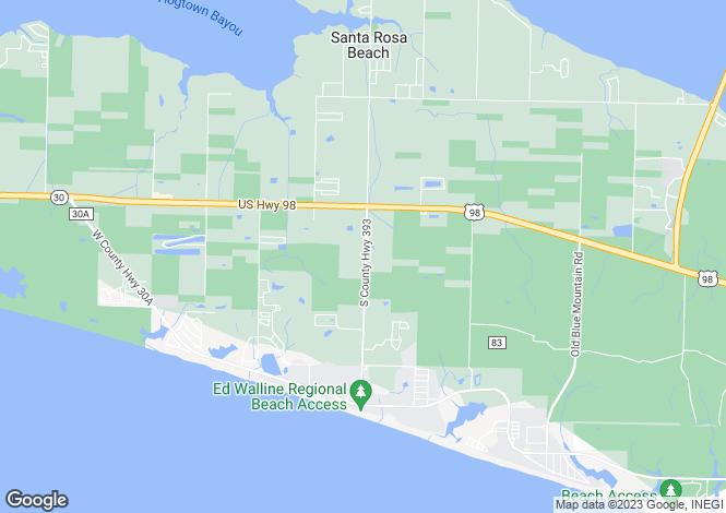 Map for USA - Florida, Walton County, Santa Rosa Beach