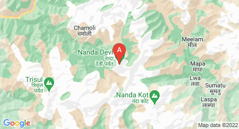 map of Nanda Devi (India)