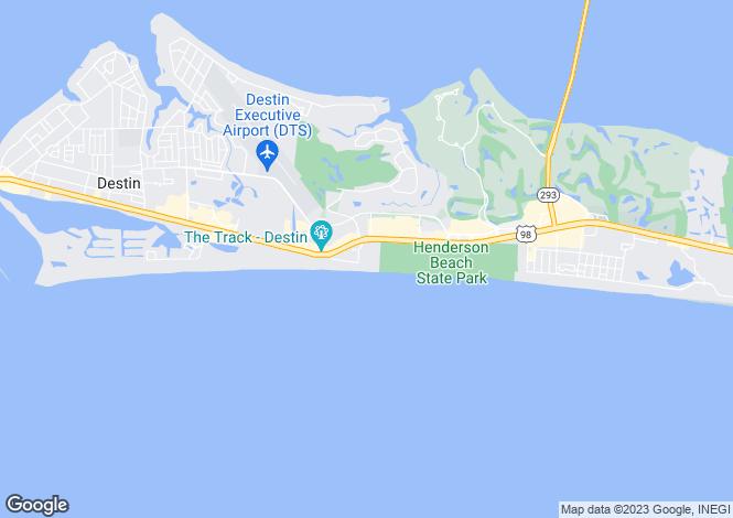 Map for USA - Florida, Okaloosa County, Destin