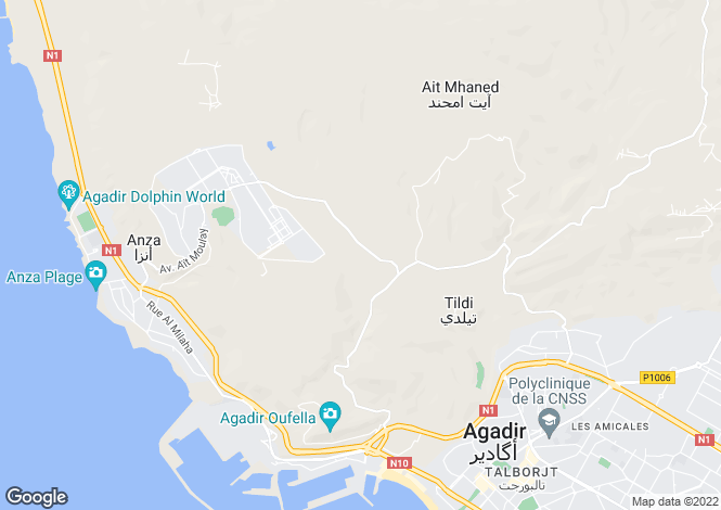Map for AGADIR,