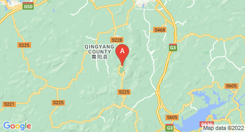 map of Mount Jiuhua (China)