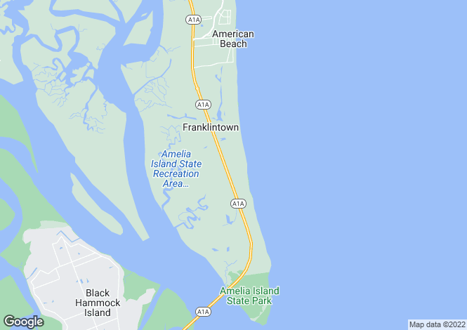 Map for USA - Florida, Nassau County, Amelia Island