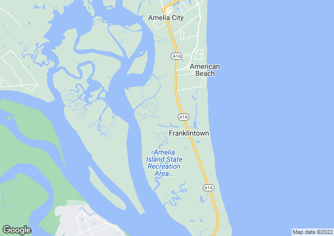 Map for USA - Florida, Nassau County, Amelia Island