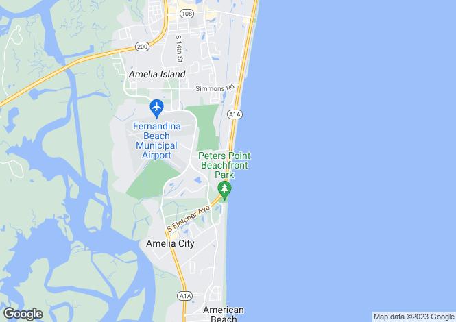 Map for USA - Florida, Nassau County, Fernandina Beach