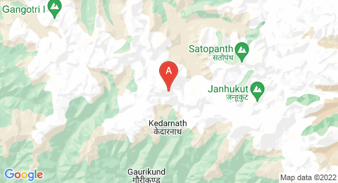 map of Kedarnath (India)