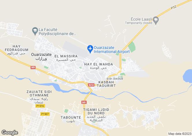 Map for Ouarzazate, 45000, Morocco