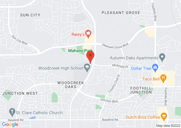 Map of 3051 Woodcreek Oaks Blvd, Roseville, CA, United States