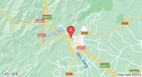map of Mount Qingcheng (China)