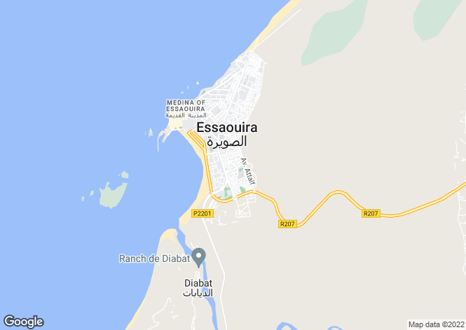 Map for Essaouira, Marrakech-Tensift-El Haouz, Marrakech