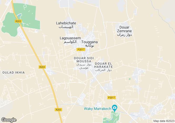 Map for Dar Touge, Route de L'Ourika, Marrakech, Morocco