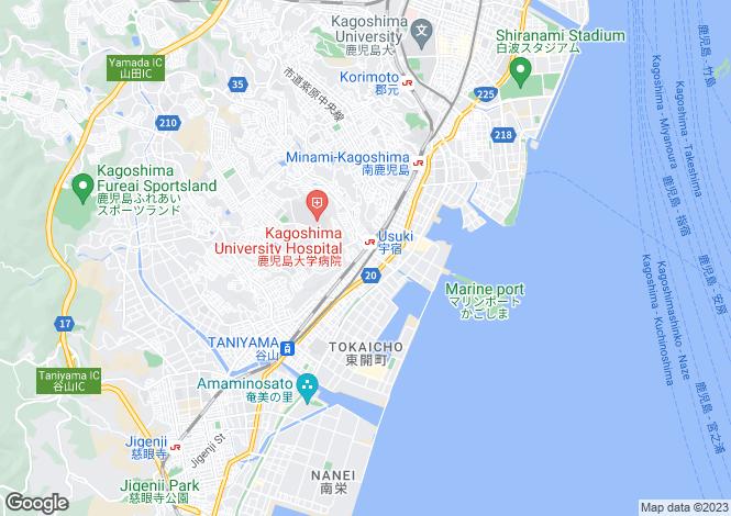 Map for Oita, Usuki