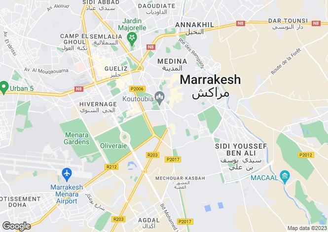Map for Marrakech, Marrakech-Tensift-El Haouz, Marrakech