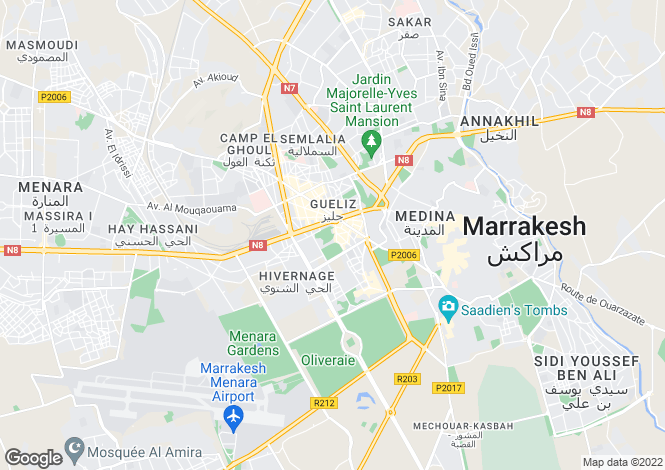 Map for Dar Tishan, Marrakech, Morocco
