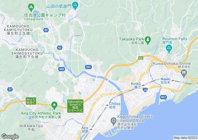 Map for Kagoshima