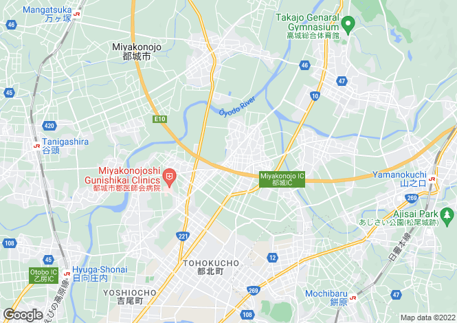 Map for Miyazaki