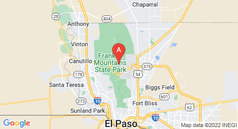 map of North Franklin Mountain (United States of America)