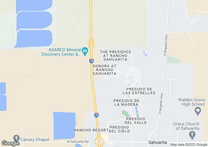 Map for Arizona, Pima County, Sahuarita