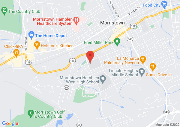 Map of 311 Sulphur Springs Road, Morristown, TN, USA
