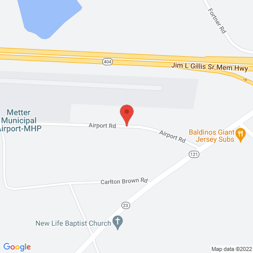 Map of Metter airport metter ga