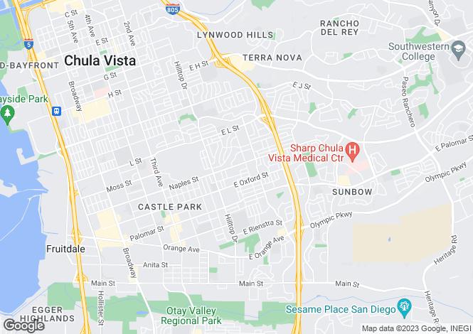 Map for USA - California, San Diego County, Chula Vista