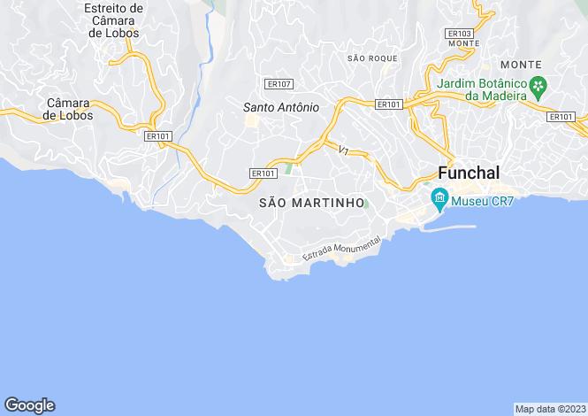 Map for São Martinho, Funchal, Madeira