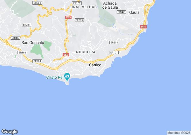 Map for Canico, Madeira