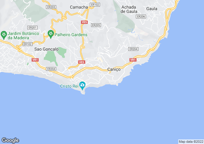 Map for Madeira, Canico