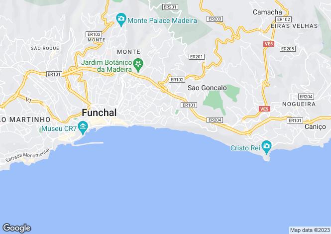 Map for São Gonçalo, Funchal, Madeira