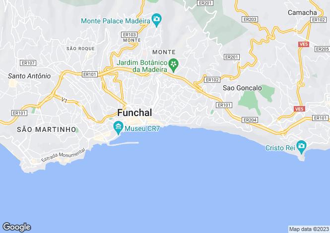 Map for Funchal (Santa Maria Maior), Funchal, Madeira