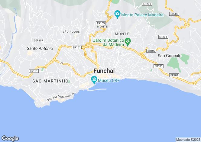 Map for Funchal (São Pedro), Funchal, Madeira