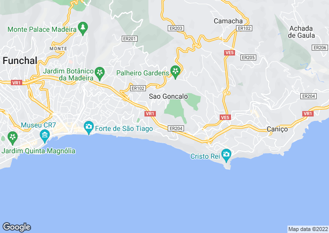 Map for Funchal, Madeira