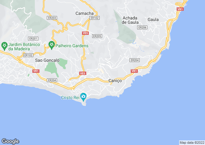 Map for Caniço, Santa Cruz, Madeira