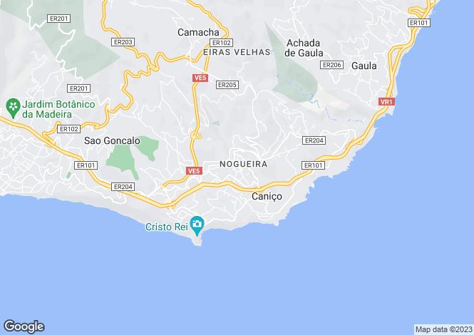 Map for Madeira, Canico