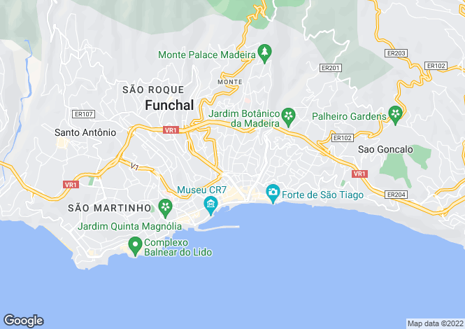 Map for Funchal (Santa Luzia), Funchal, Madeira