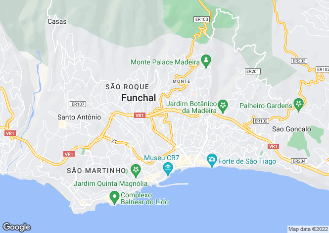 Map for Imaculado Coração Maria, Funchal, Ilha da Madeira