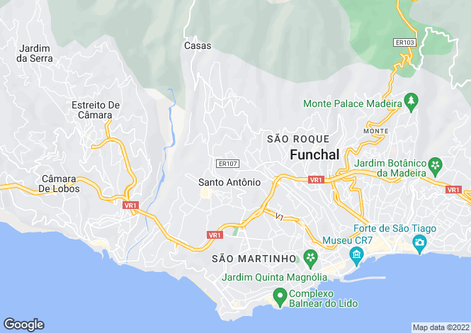 Map for Santo António, Funchal, Madeira