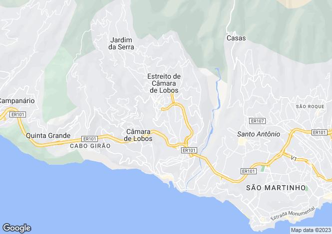 Map for Madeira, Camara De Lobos