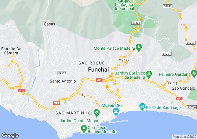 Map for São Gonçalo, Funchal
