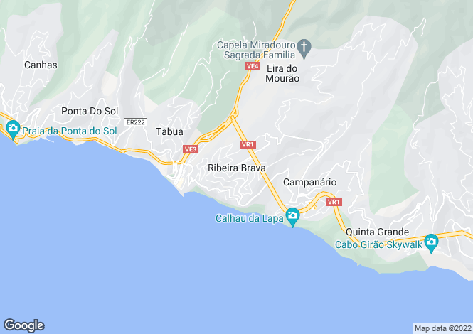 Map for Tabua, Ribeira Brava