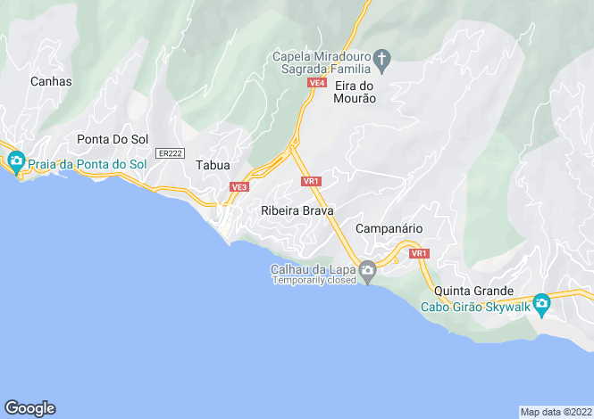 Map for Ribeira Brava, Ribeira Brava