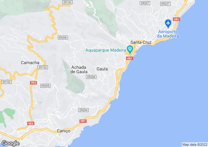 Map for Gaula, Santa Cruz, Madeira